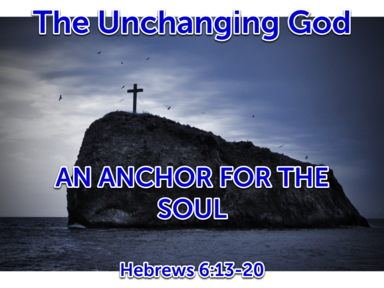 03/26/2017 The Unchanging God