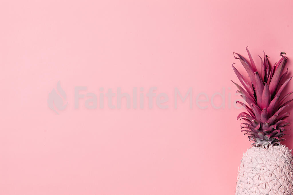 Colorful Pineapple on Pink Background large preview
