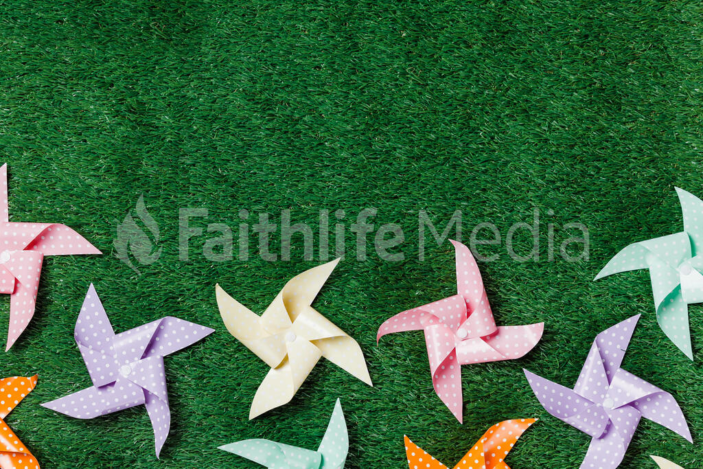 Pinwheels on Grass large preview