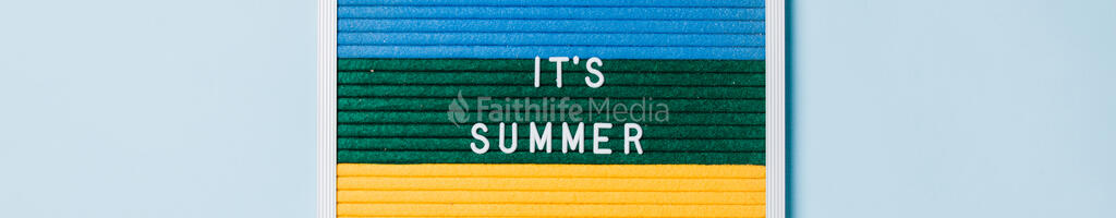It's Summer Letter Board on Blue Background large preview
