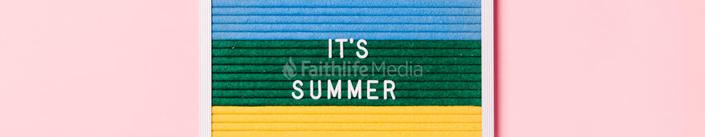 It's Summer Letter Board on Pink Background large preview