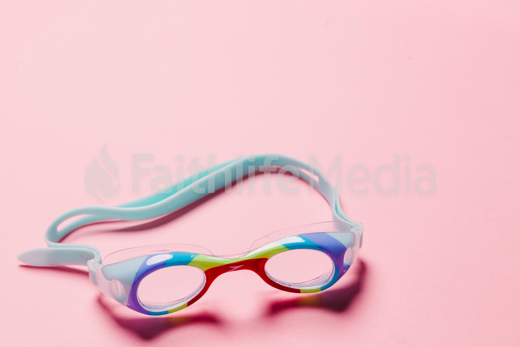 Goggles on Pink Background large preview