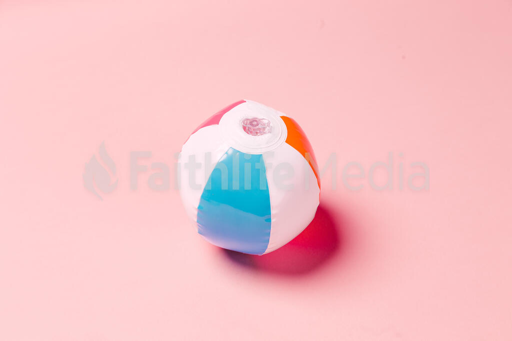 Beach Ball on Pink Background large preview