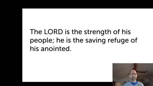 Wed.  Nov. 25,  '20 1st PPT Psalm 28