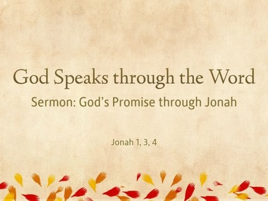 God's Promise through Jonah