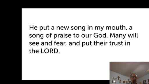 Sat.  Nov. 28,  '20 2nd PPT Psalm 40