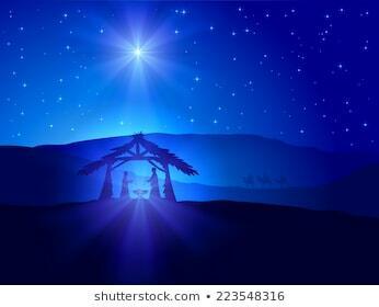 Christian Christmas Scene Shining Star-260Nw-223548316