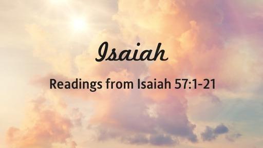 Readings from Isaiah 57