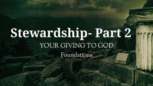 Stewardship- Part 2