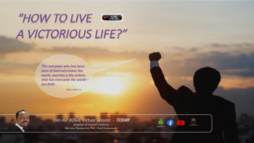 """How to Live a Victorious Life"" by Mercury Thomas-Ha, PhD @ 1:00 PM (112920)"