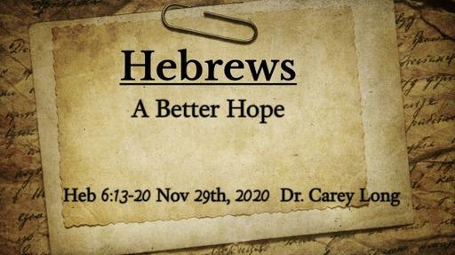 A Better Hope 11/29/20