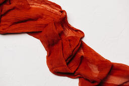 Sheer Red Fabric  image 1
