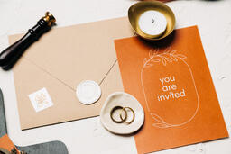 Wedding Invitation Suite in Desert Tones  image 12