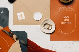 Wedding Invitation Suite in Desert Tones  image 13