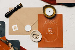 Wedding Invitation Suite in Desert Tones  image 45