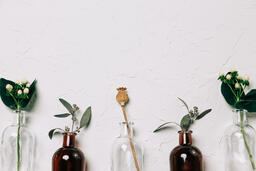 Florals and Greenery in Bud Vases  image 9