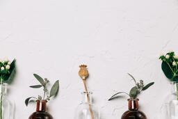 Florals and Greenery in Bud Vases  image 2