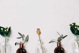 Florals and Greenery in Bud Vases  image 6