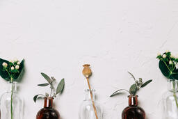 Florals and Greenery in Bud Vases  image 13