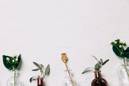 Florals and Greenery in Bud Vases  image 3