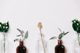 Florals and Greenery in Bud Vases  image 4