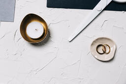 Wedding Bands and a Tea Light  image 8