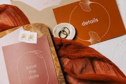Wedding Invitation Suite in Desert Tones  image 39