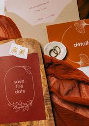 Wedding Invitation Suite in Desert Tones  image 3