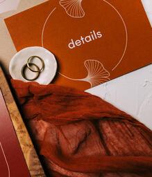 Wedding Invitation Suite in Desert Tones  image 1