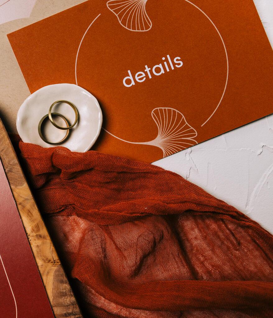 Wedding Invitation Suite in Desert Tones large preview