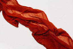Sheer Red Fabric  image 2