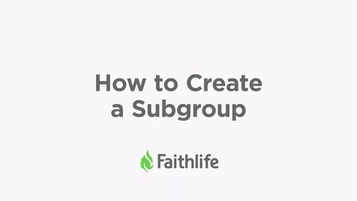 How To Create A Subgroup