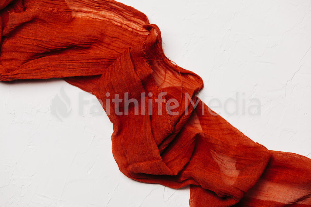 Sheer Red Fabric large preview