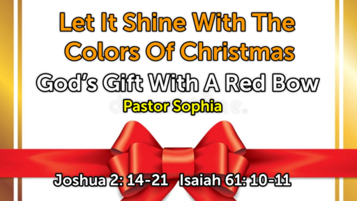 God's Gift With A Red Bow