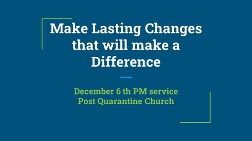 Sunday Evening Dec. 6 Service