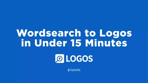 Wordsearch To Logos in Under 15 Minutes