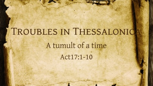 Troubles in Thessalonica