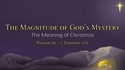 Sunday Morning Service December 13th