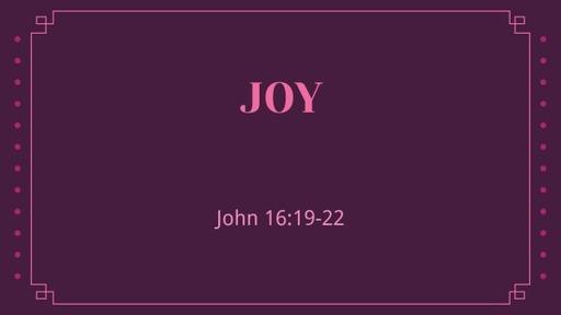 John 16:19-22 / Joy