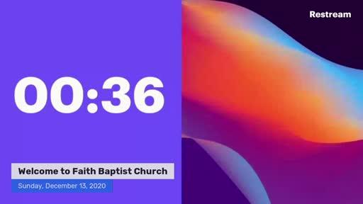 December 13, 2020 Morning Service