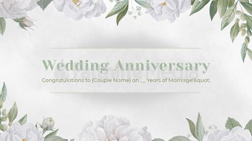 Wedding Anniversary White