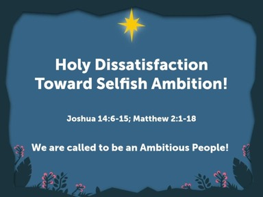 Holy Dissatisfaction: Reclaiming Our Biblical Identity!