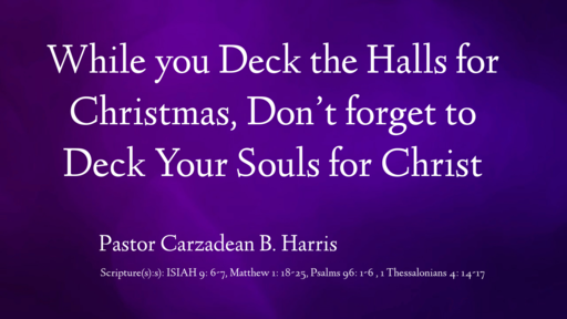 While You Deck the Halls...