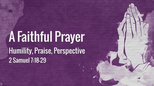 A Faithful Prayer