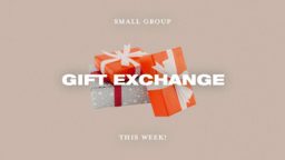 Small Group Gift Exchange This Week  PowerPoint image 1