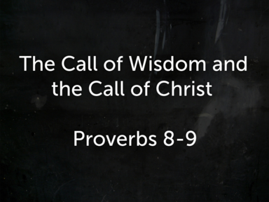 The Call of Wisdom and the Call of Christ Pt.2  12/23/2020