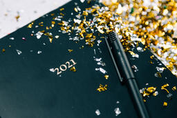 2021 Notebook with Confetti  image 2