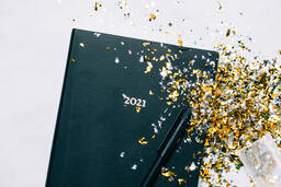 2021 Notebook with Confetti  image 3
