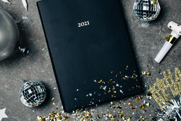 2021 Notebook with New Year's Eve Party Items  image 4