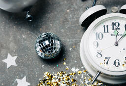Clock Striking Midnight on New Year's  image 1